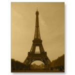 sepia tone Eiffel Tower